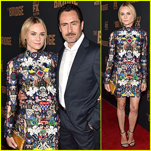 Diane Kruger Brings Her Colorful Fashion Sense to 'Bridge' Premiere!