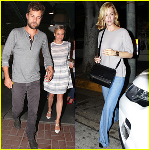 Diane Kruger & Joshua Jackson Grab Dinner with January Jones at Madeo!
