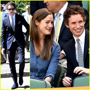 Eddie Redmayne & Fiancee Hannah Bagshawe Make the Cutest Couple at Wimbledon!
