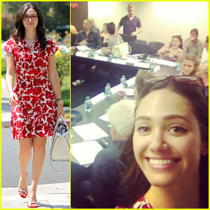 Emmy Rossum Attends First 'Shameless' Season 5 Table Read!