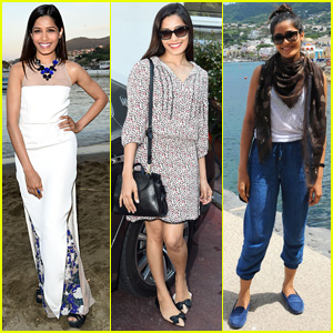 Freida Pinto Steps Up Her Style Game During 'Desert Dancer' Debut at Ischia Global Film & Music Festival