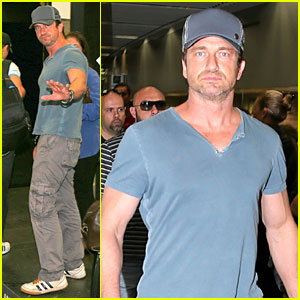 Gerard Butler Jets to Belo Horizonte For FIFA World Cup Match!