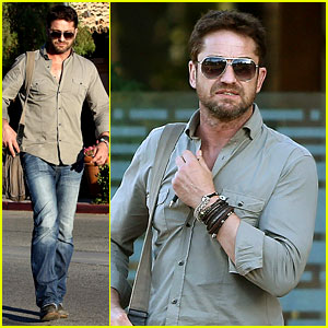 Gerard Butler Keeps His Clothes the Same Two Days in a Row
