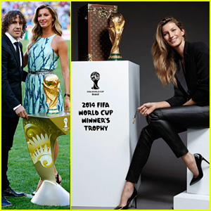 Gisele Bunchen Proud to Present the World Cup Trophy in Brazil!