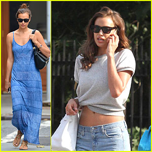 Irina Shayk's Toned Tummy Gets Some Exposure in the Big Apple
