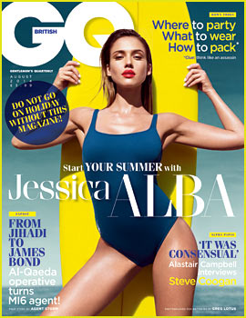 Jessica Alba Models Sexy Swimsuit, Discusses Paul Walker with 'British GQ'