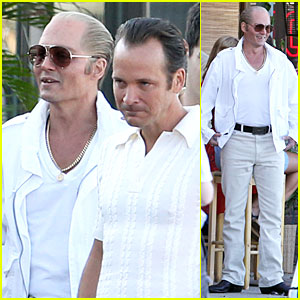 Johnny Depp Rocks Discolored Teeth For 'Black Mass' Scenes with Peter Sarsgaar