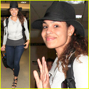 Jordin Sparks Wishes She Had Her Shades on at LAX!