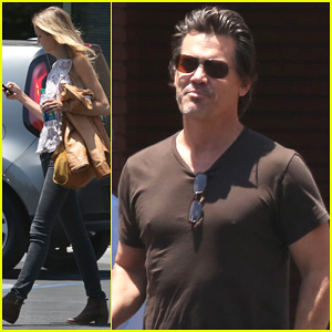 Josh Brolin & Girlfriend Kathryn Boyd Run Errands Together in the Valley!