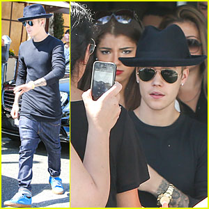 Justin Bieber & Yovanna Ventura Step Out For Beverly Hills Lunch