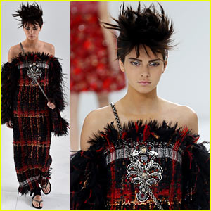 Kendall Jenner Looks Unrecognizable in Punk Couture on the Chanel Fashion Show Runway!