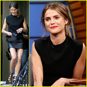 Keri Russell Promotes 'Dawn Of The Planets Of The Apes' on 'Late Night with Seth Meyers'!