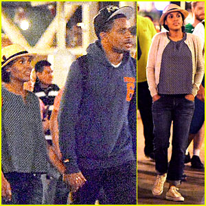Kerry Washington Holds Hands with Husband Nnamdi Asomugha at Disneyland!