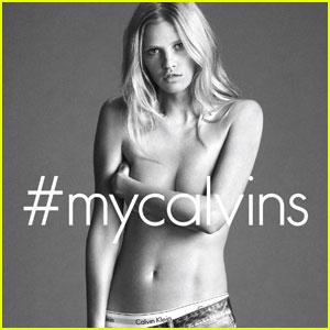 Supermodel Lara Stone Is Hot & Topless For Calvin Klein Social Media Campaign!