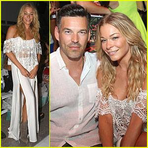 LeAnn Rimes Sweats at Luli Fama Fashion Show With Eddie Cibrian By Her Si