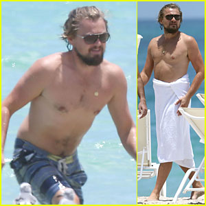 Leonardo DiCaprio Goes Shirtless For Ocean Swim in Miami