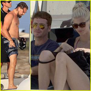 Leonardo DiCaprio Is Shirtless & Soakin' Wet During Vacation