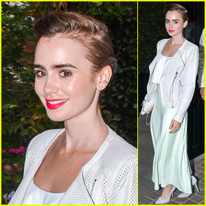 Lily Collins Stops By Celeb Hotspot Chiltern Firehouse!