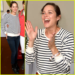 Marion Cotillard Cheers On Her Man at a Horse Jumping Event!