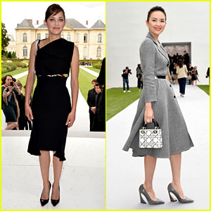 Marion Cotillard & Ziyi Zhang Are Christion Dior Darlings at Paris Fashion Show!