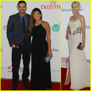 Jenna Ushkowitz & Mark Salling Get Dizzy at the Celebration of Dance!
