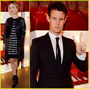 Matt Smith & Rumored Girlfriend Lily James Keep Their Distance at Vivienne Westwood Launch