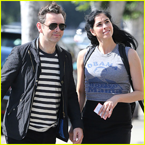 Michael Sheen & Sarah Silverman Get In Some Shopping on Saturday!