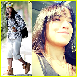 Michelle Rodriguez Gets Bangs to Celebrate New Life with Zac Efron