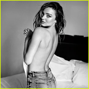Miranda Kerr Goes Topless for 7 For All Mankind C