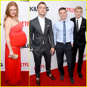 Pregnant Mireille Enos Shows Off Her Big Baby Bump at Season 4 Premiere of 'The Killing'!