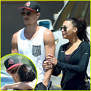 Newlyweds Naya Rivera & Ryan Dorsey Kiss,