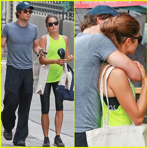 Ian Somerhalder Keeps His Arm Around Nikki Reed at the Farme