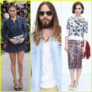 Nina Dobrev & Lily Collins Join Jared Leto at Chanel Fashion Show in Paris!