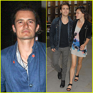 Orlando Bloom & Paul Wesley Are Such Denim Studs at Chiltern F