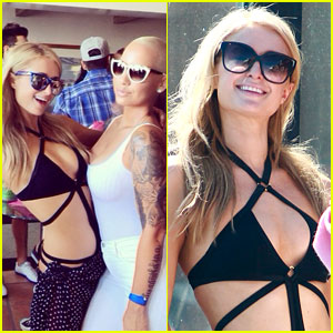 Paris Hilton Parties it Up with Amber Rose for the Fourth of July!