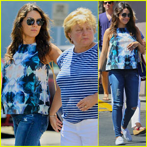 Pregnant Mila Kunis Spends the Day wi