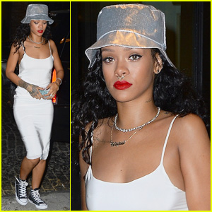 Rihanna Rocks Fake Nose Ring for Brothers Party at VIP Room!