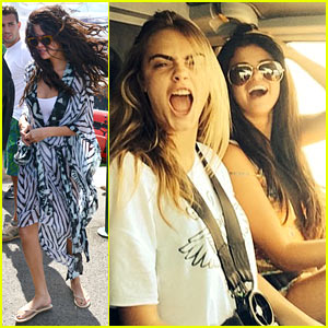 Selena Gomez & Cara Delevingne Have a Blast Together in France