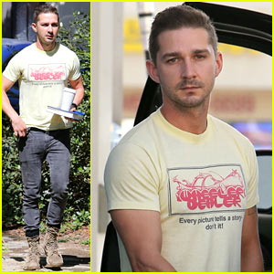 Shia LaBeouf Keeps Up with His Daily Morning Routine