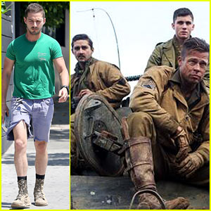 Shia LaBeouf Wears Cut Off Jean Shorts As 'Fury' Releases New Images