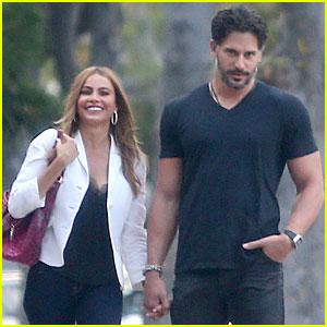 Sofia Vergara Can't Help But Smile While Holding Hands With Joe Mangani