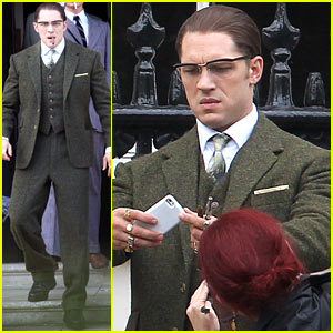 Tom Hardy Looks Bespeckled & Handsome for 'Legend'!