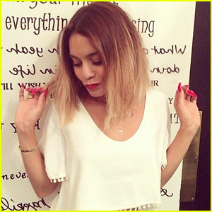 Vanessa Hudgens Cuts Hair, Goes for the L