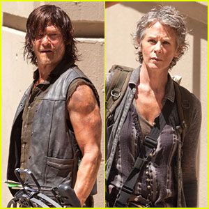 The Walking Dead's Norman Reedus & Melissa McBride Get to Work on Season 5 - See the Pics!