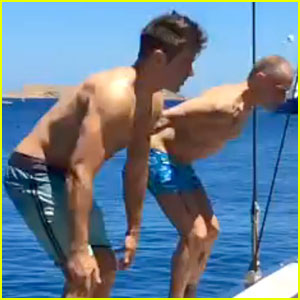 Zac Efron Goes Shirtless & Does a Backflip Off a Boat! (Video)