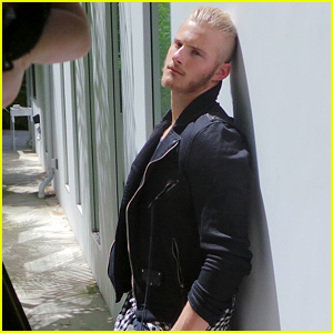Alexander Ludwig 'Stands Tall' for JJ Spotlight! (Behind the Scenes Photo