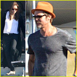 Angelina Jolie & Brad Pitt Arrive in Nice with the Whole Family!