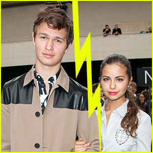 Fault in Our Stars' Ansel Elgort & Girlfriend Violetta Komyshan Split