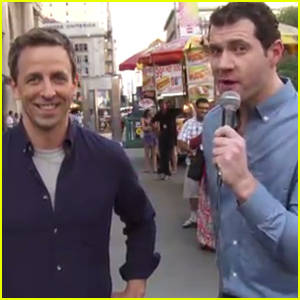Seth Meyers & Billy Eichner Harass New Yorkers for 'Billy on the Street' Emmys 2014 Edition - Watch Now!