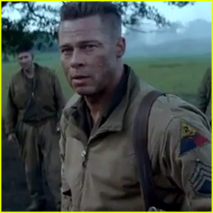 Brad Pitt Stars in Brand New 'Fury' Trailer - Wa